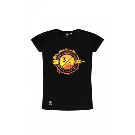 T-SHIRT SUNSET Black Damska